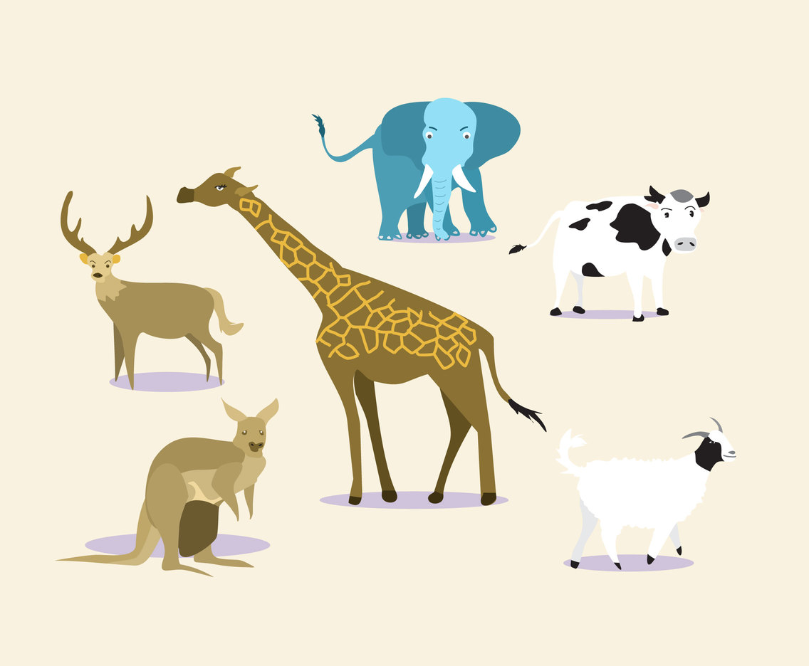 Cartoon Mammals Vector