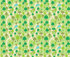Free Forest Background Vector 1
