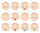 Baby Cartoon Vector Faces