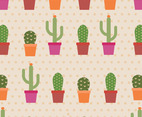 Cactus Cartoon Pattern
