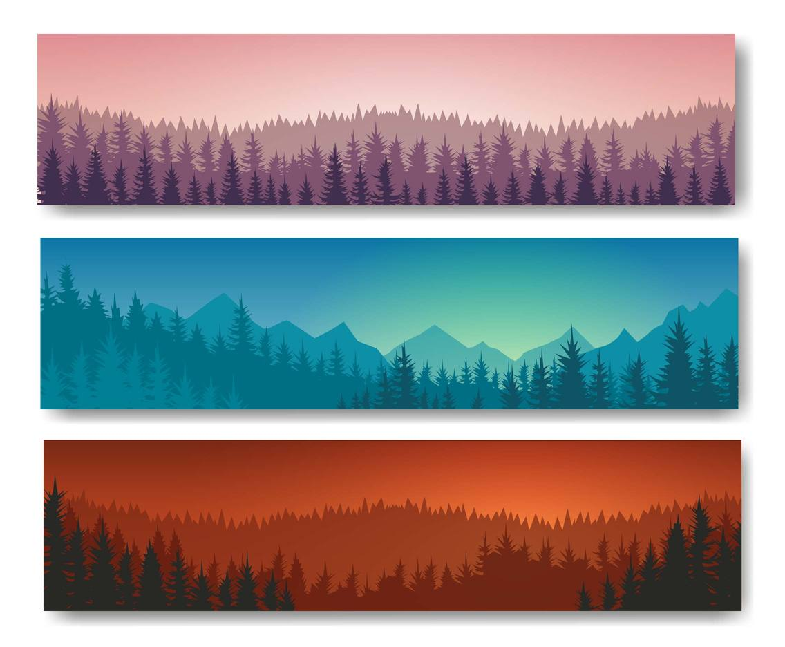 Free Forest Landscape Background Vector