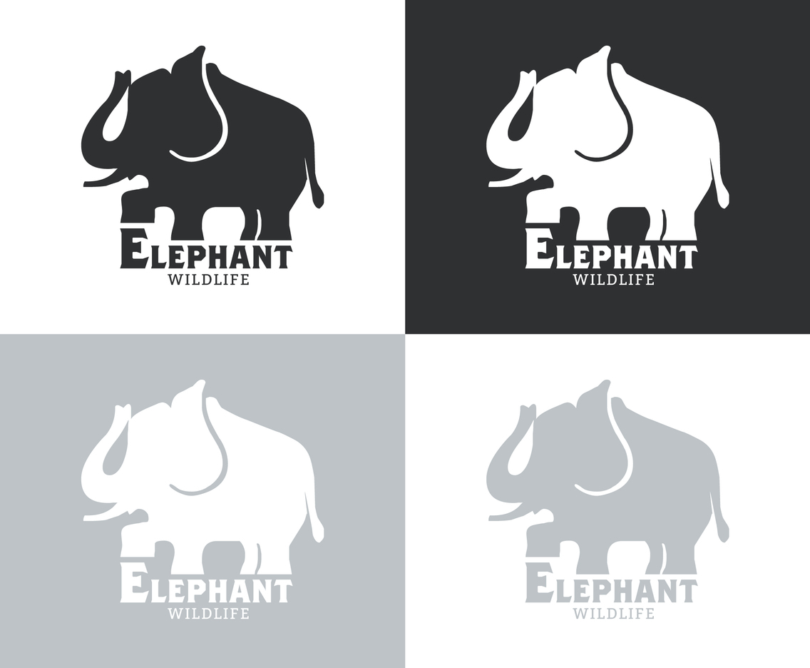 Free Elephant Silhouette Vector Set