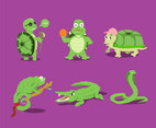 Funny Cartoon Animals Vector