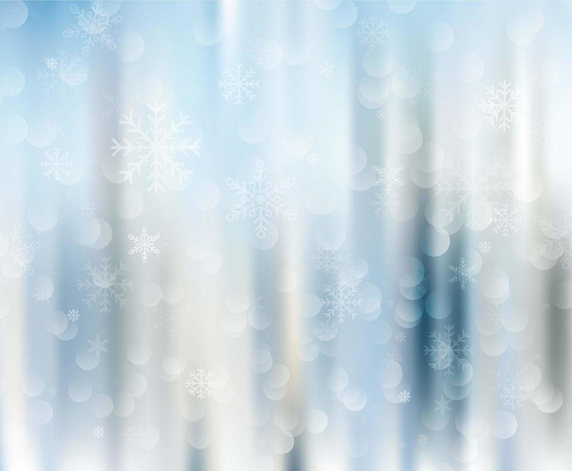 Free Vector Winter Background With Snowflakes