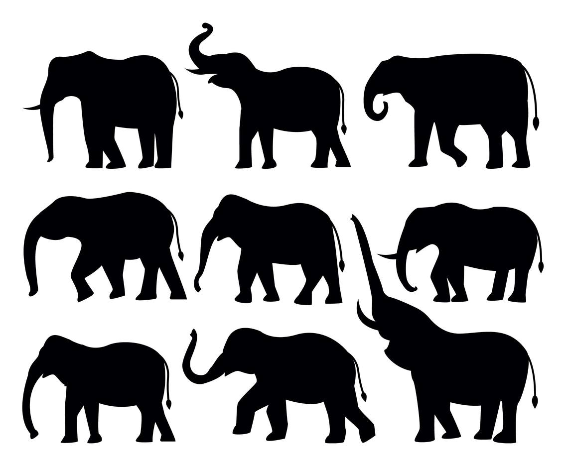 Free Elephant Silhouttes Vector Vector Art & Graphics ...