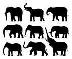 Free Elephant Silhouttes Vector