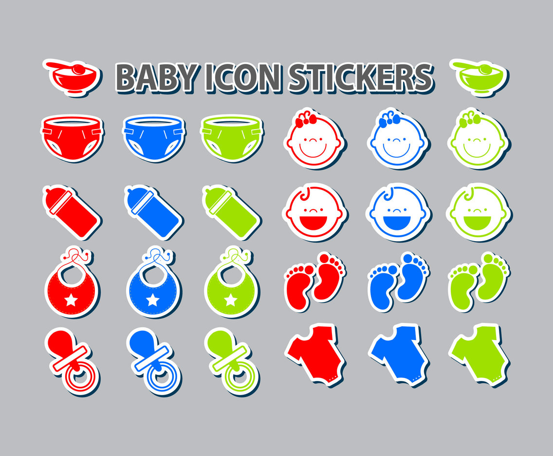 Baby Icon Stickers Set