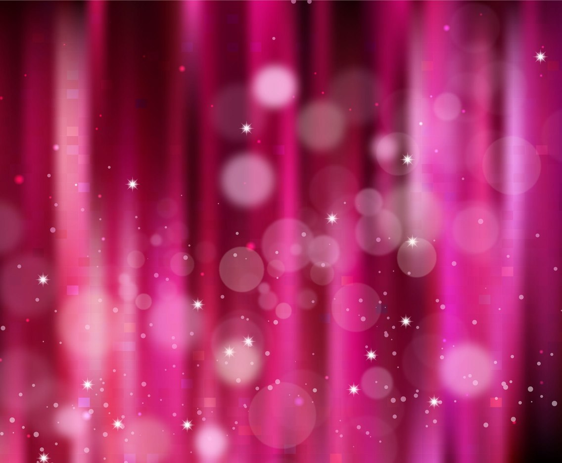 Free Vector Pink Sparkle Background With Starry Lights