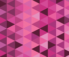 Pink Triangle Vector Background
