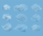 Free Vector Set Of Realistic Clouds