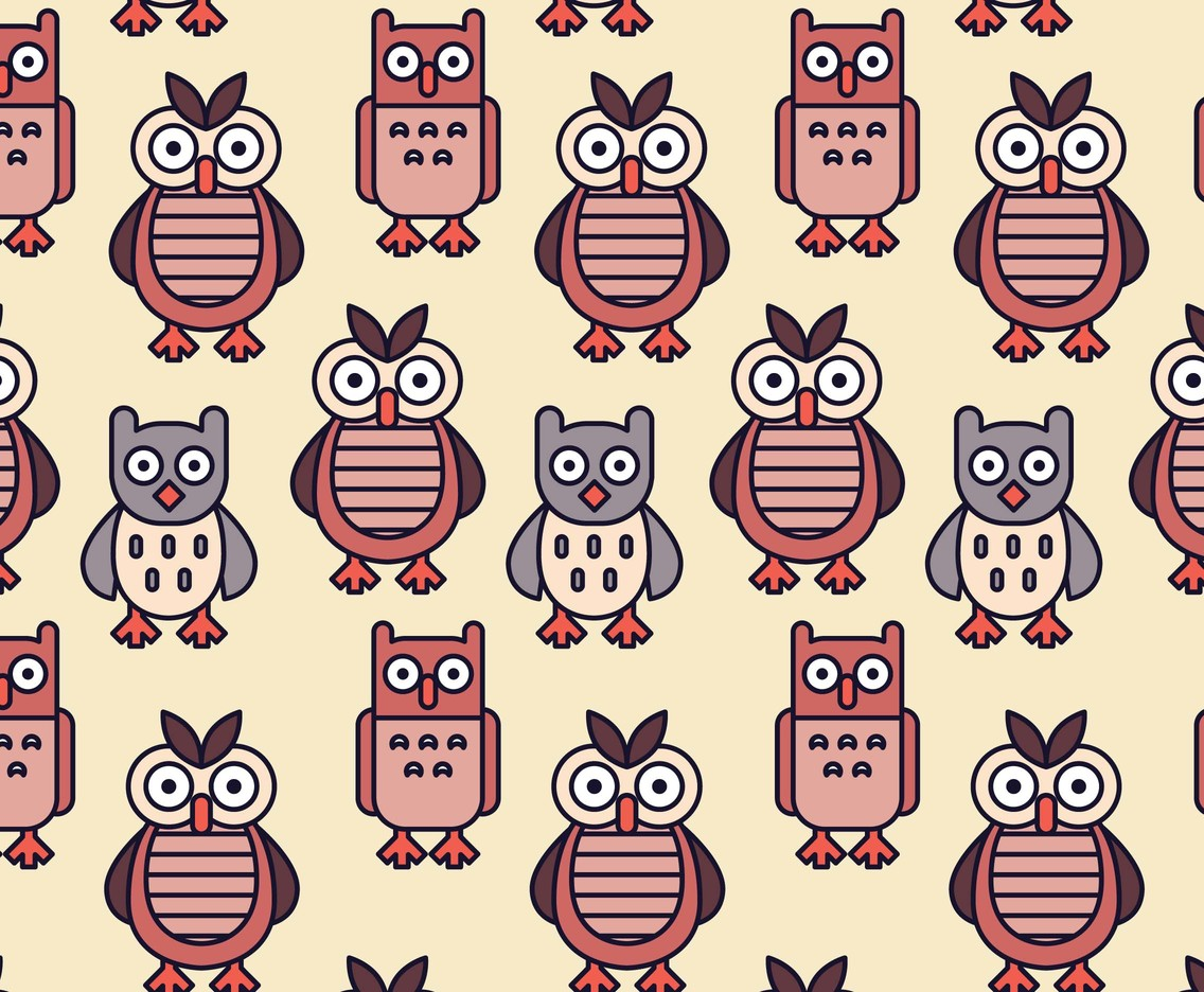 Owl Pattern Vectors