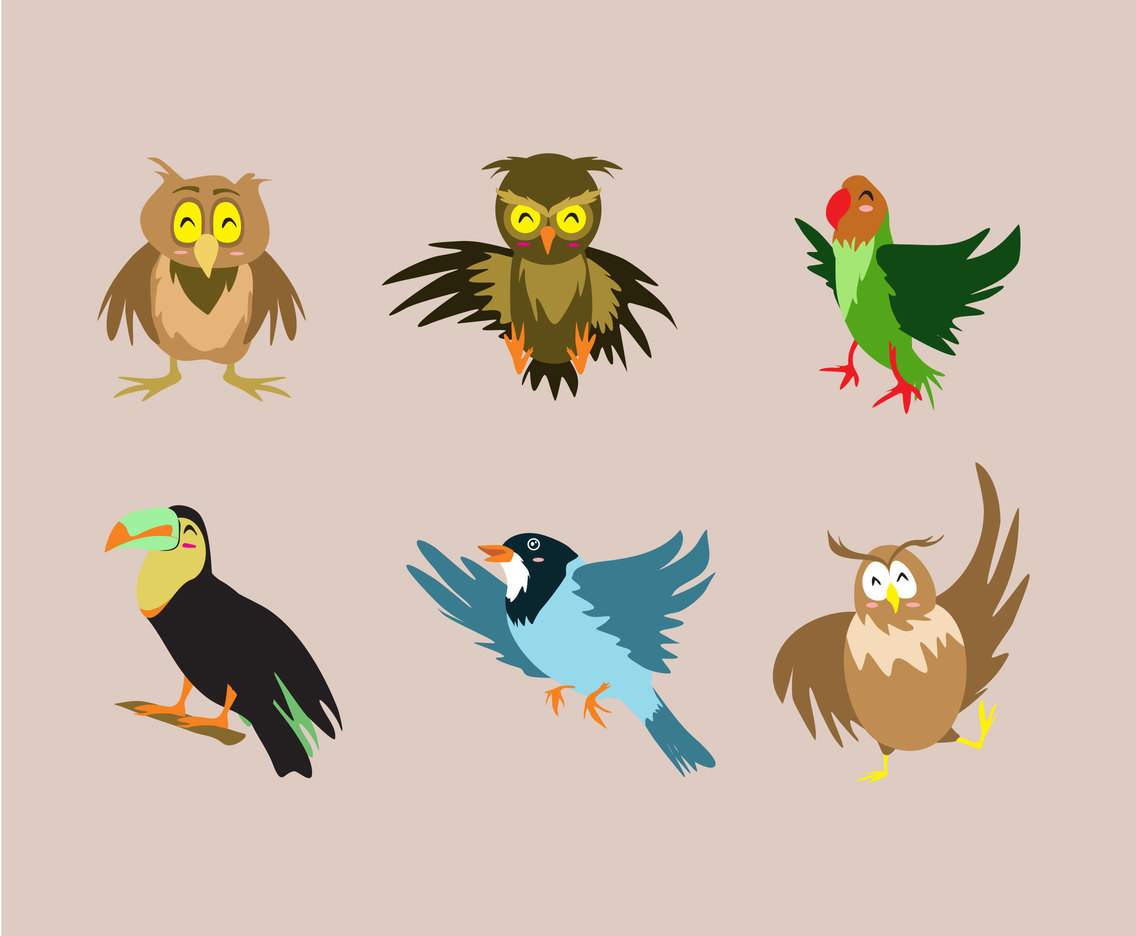 Birds Illustration Vector