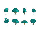 CARTOON TREE FLAT VECTOR