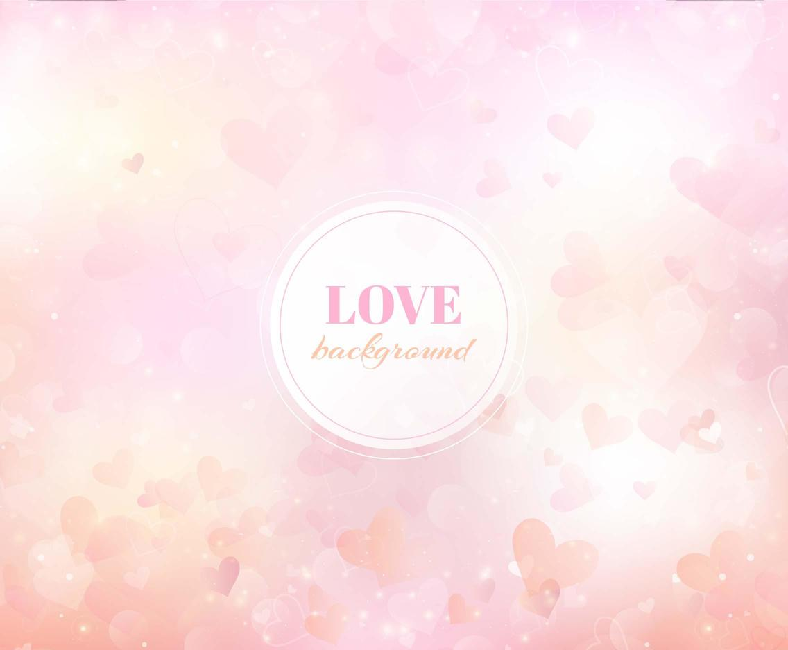 Free Vector Heart Love Background