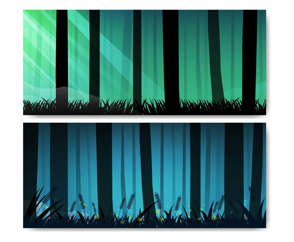 Free Forest Background Vector