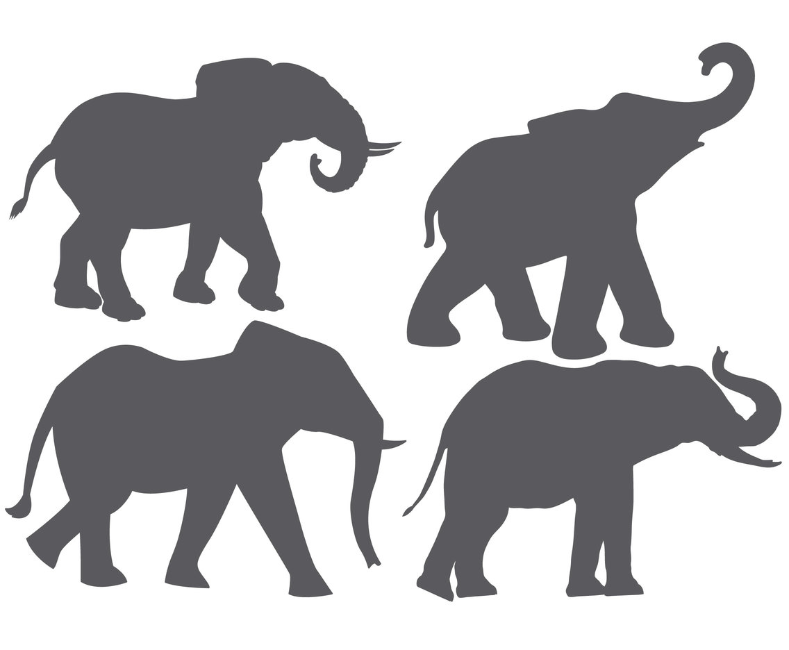 Elephant Vector Shapes