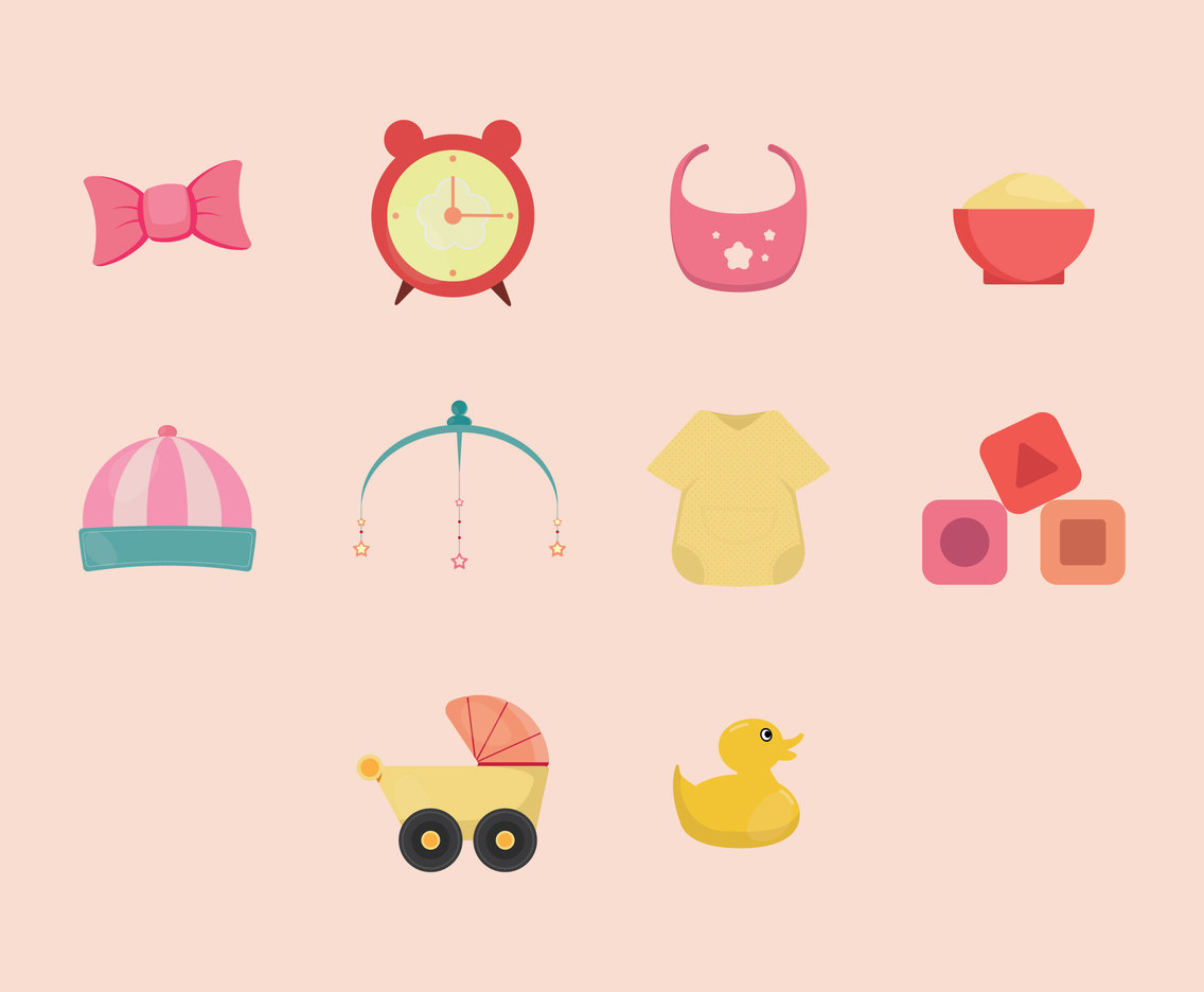 Baby Cartoon Icon Set