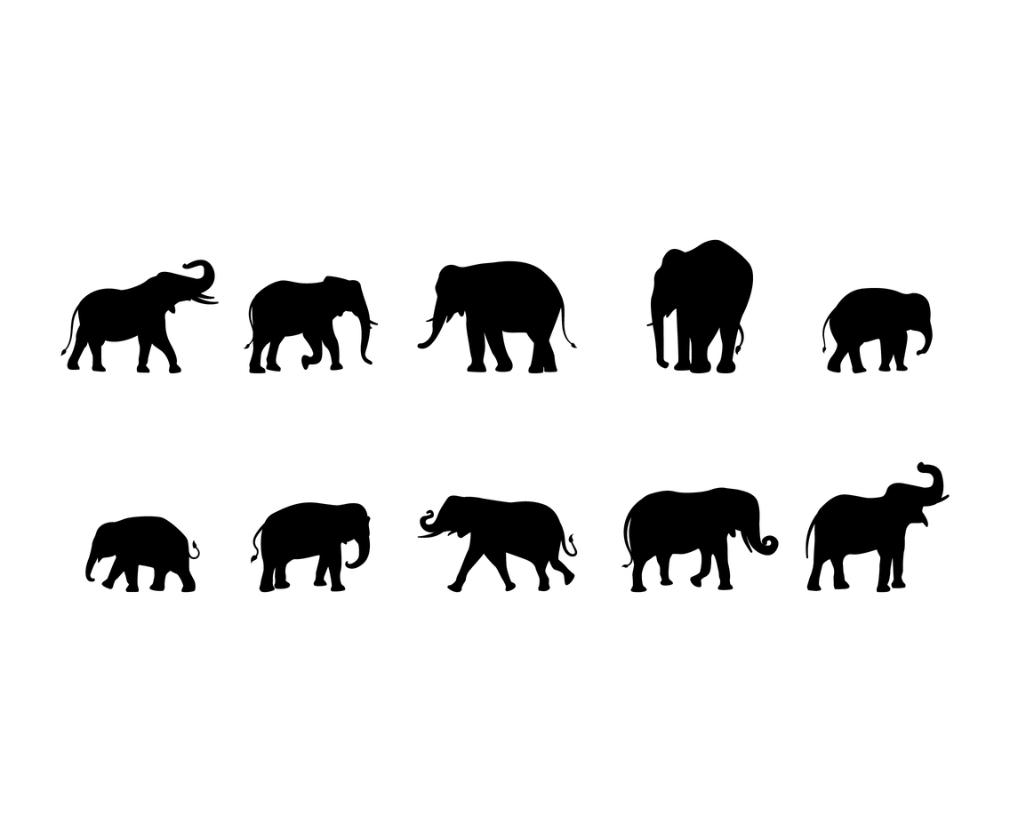 Free Elephant Silhouette Vector