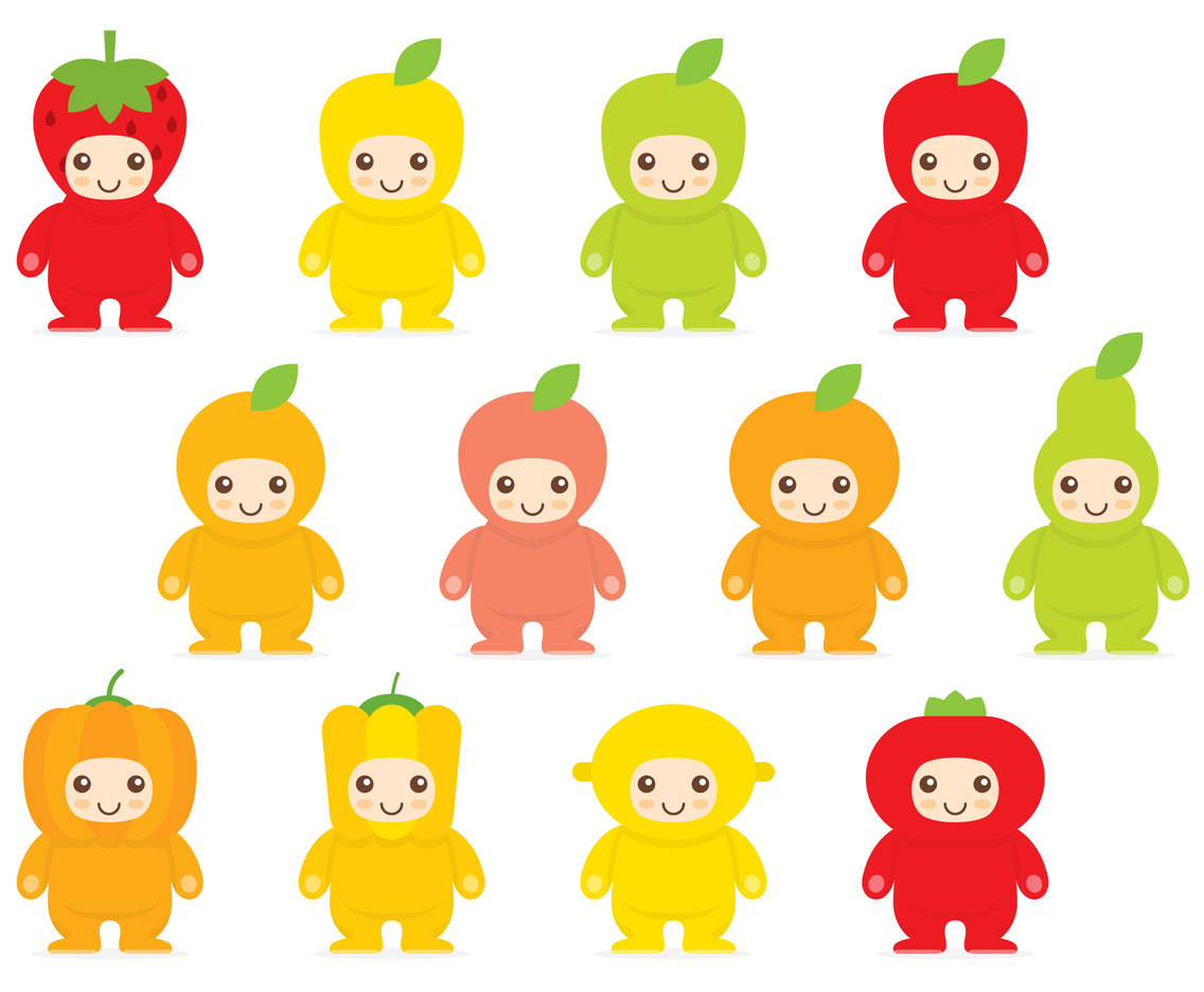 Kawaii Fruit Costumes