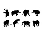 ELEPHANT SILHOUTTE VECTOR