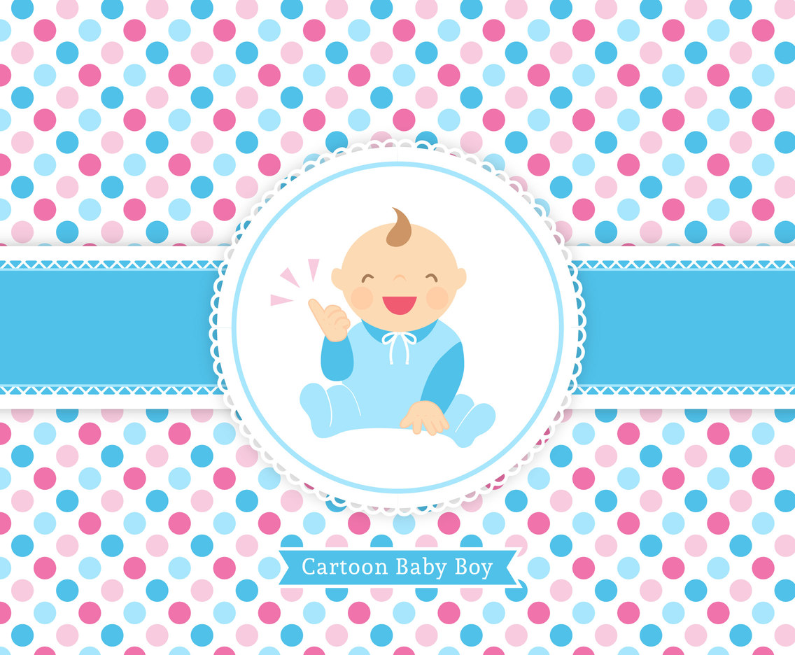 Free Vector Baby Boy Cartoon Card