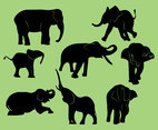 FREE ELEPHANT SILHOUETTE ICONS