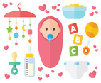 Free Baby Cartoon Icons Vector
