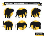 Elephant Silhouette Free Vector Pack