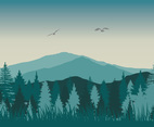 Forest Vector Background