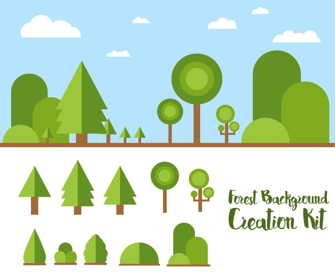 Forest Background Creation Kit Flat
