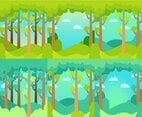 Forest Background Green Set