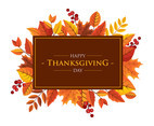 THANKSGIVING GREETING BACKGROUND VECTOR