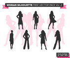 Woman Silhouette Free Vector Pack Vol. 2