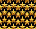 Vector Gold Stars Seamless Pattern