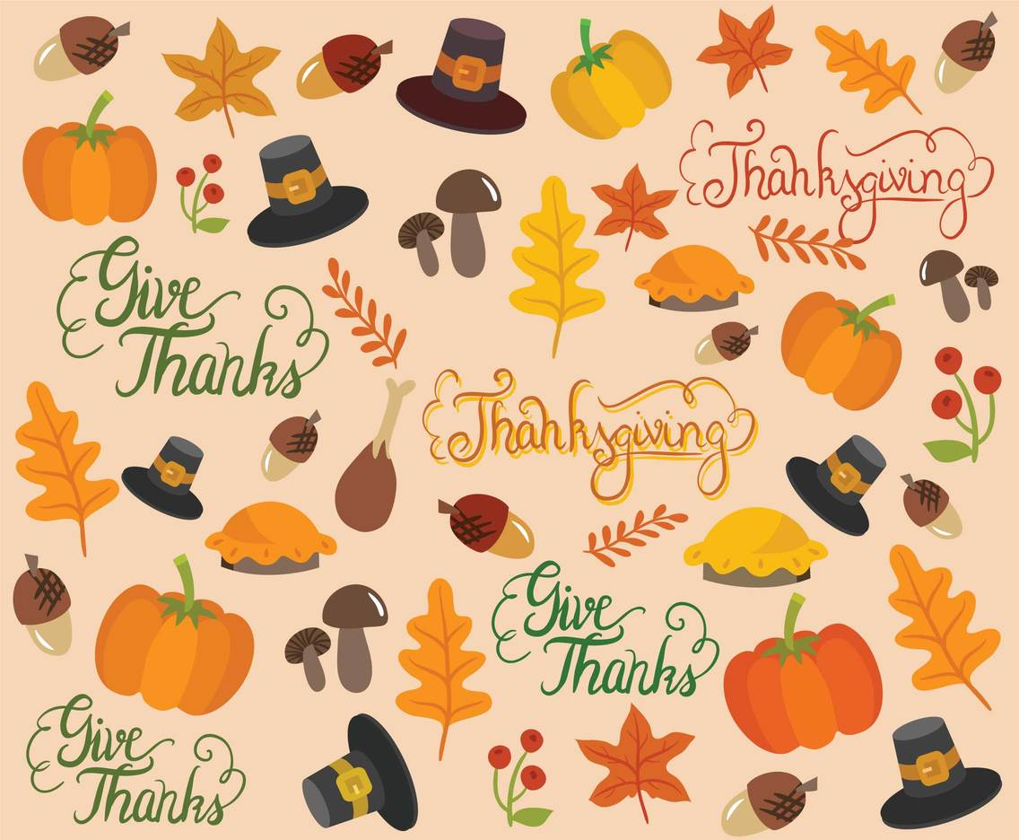Free Thanksgiving Background Vectors Vector Art & Graphics ...