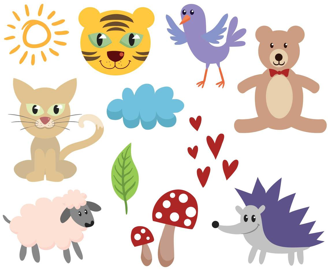 Free Cartoon Animals Vectors