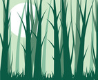 Forest Background Vector 9