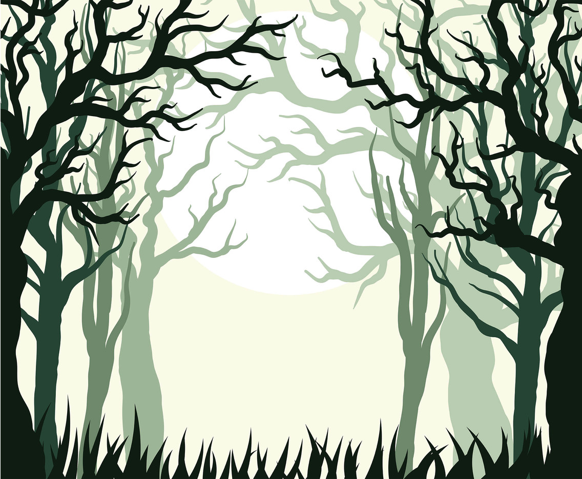 Forest Background Vector 7