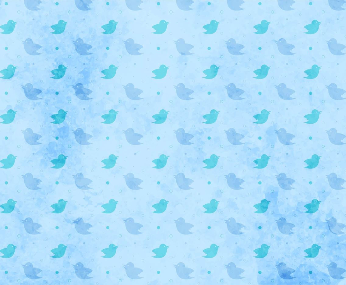Free Vector Twitter Bird Pattern