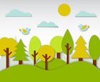 Free Kids Forest Background Vector