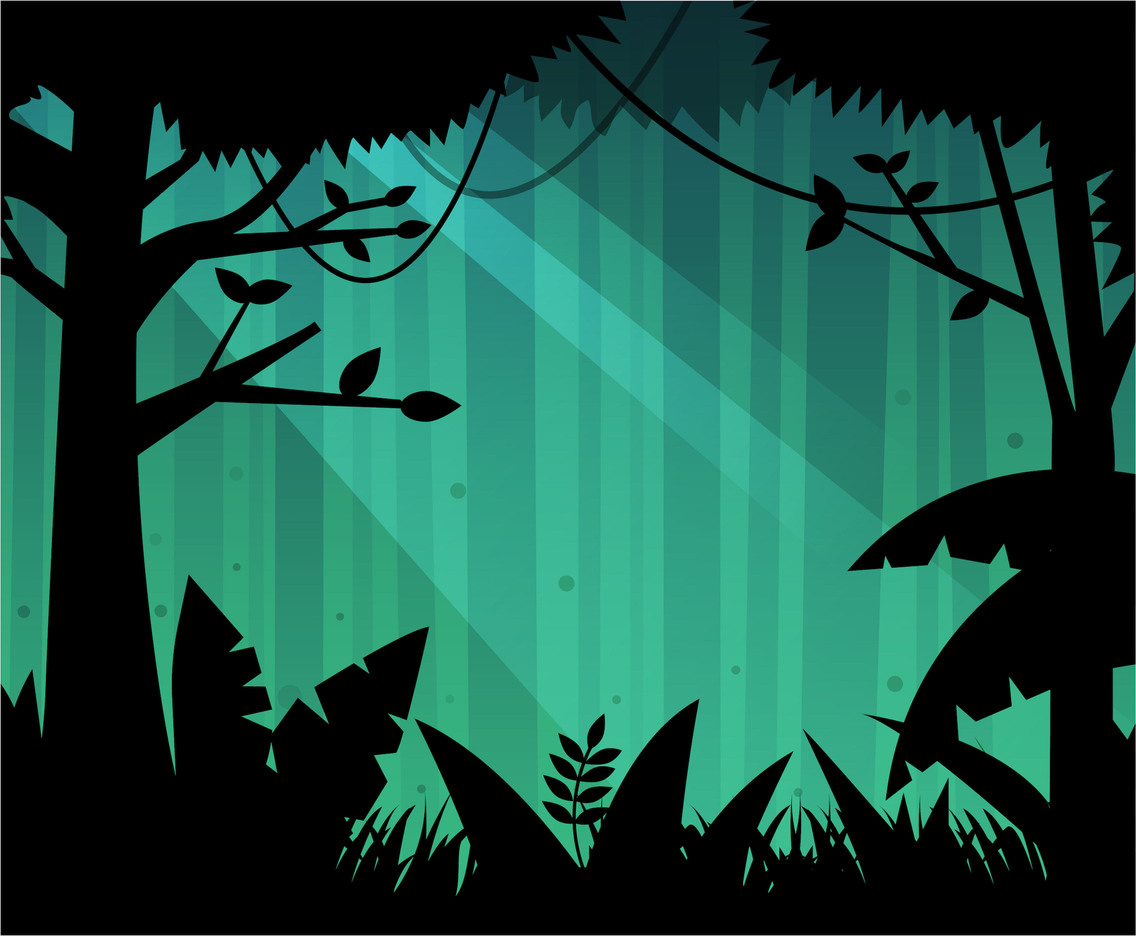 Free Deep Forest Background Vector Vector Art Amp Graphics