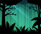 Free Deep Forest Background Vector