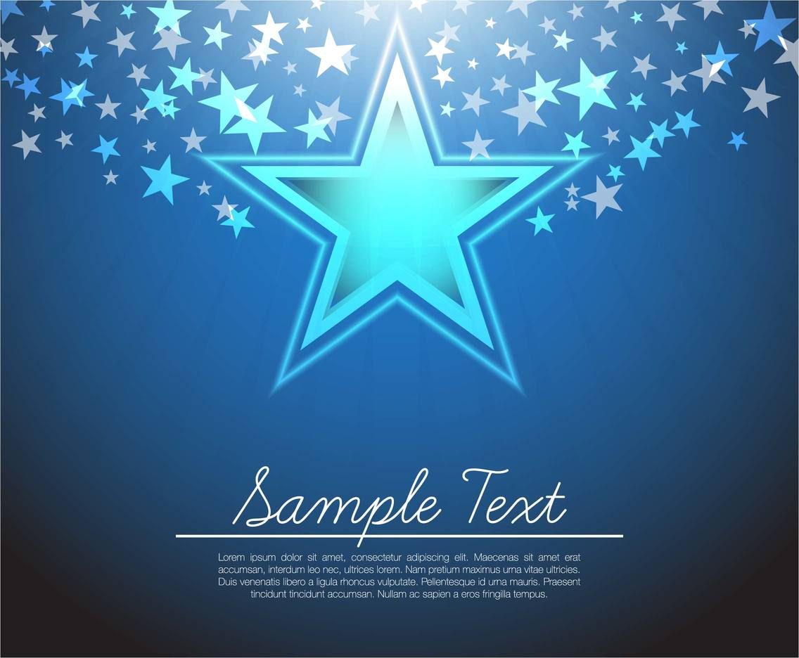 Free Glow Star Background Vector
