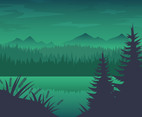 Free Forest River Background Vector