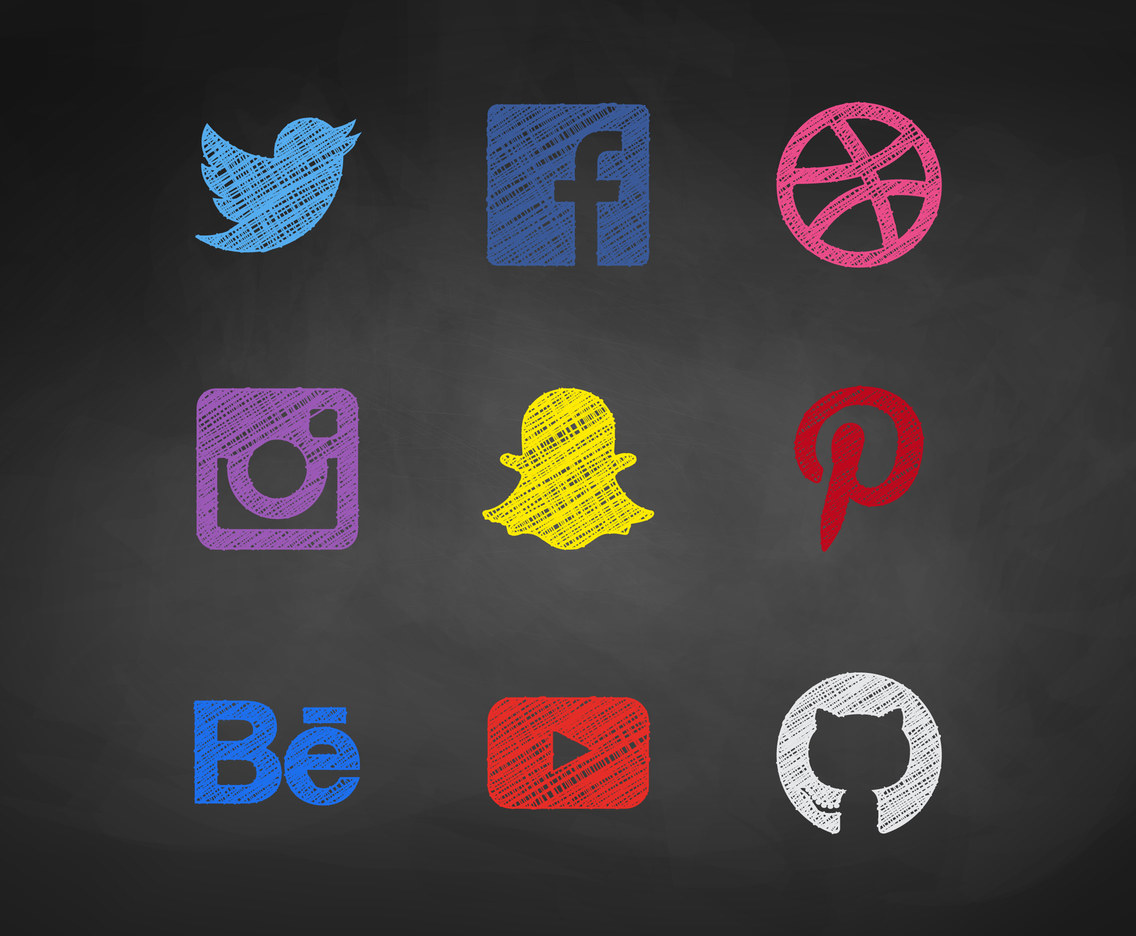Free Sketchy Social Media Vector Icons