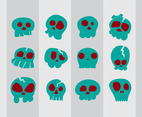 Bad Cartoon Skull Vector
