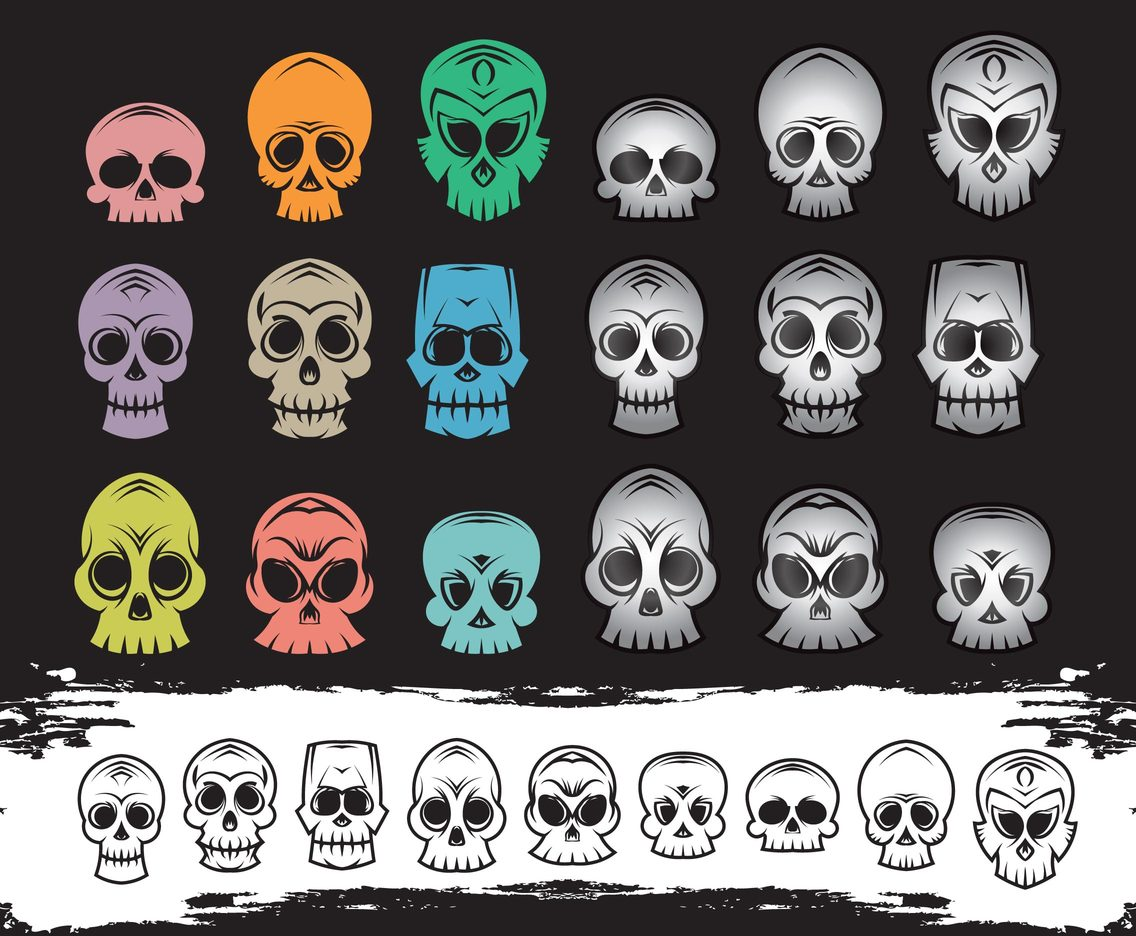 Skull Head Cartoon