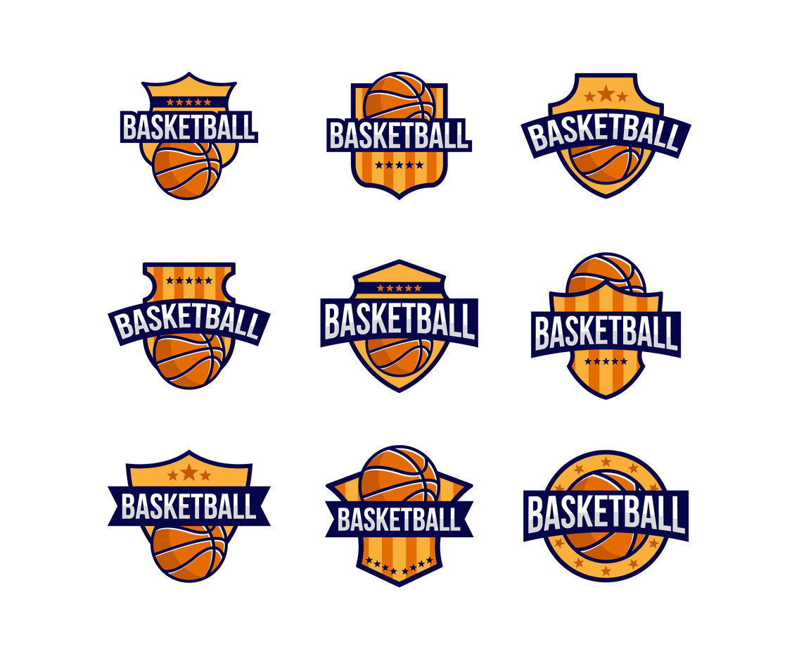 Free Basketball Logo Badges Vector