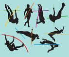 Jumping Sports Women Silhouettes