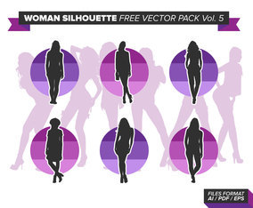 Woman Silhouette Free Vector Pack Vol. 5